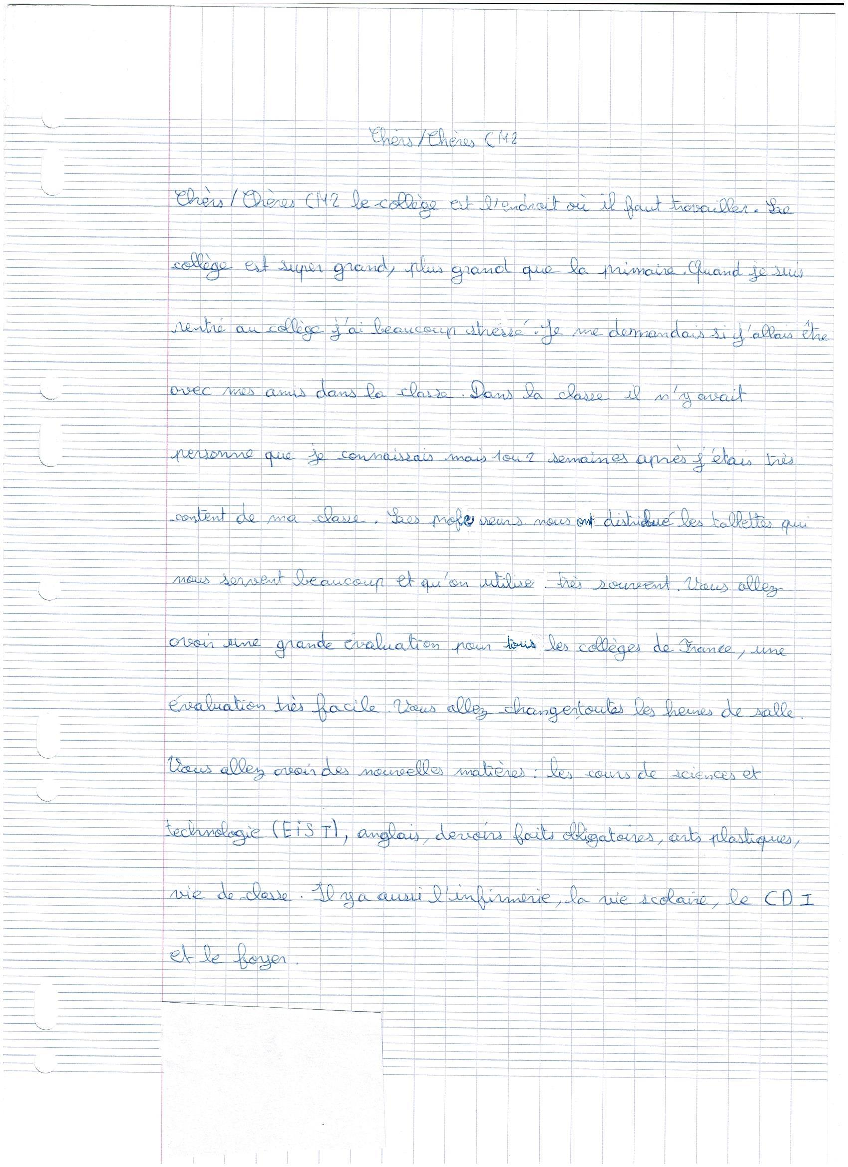 Liaison Cm2 Et 6e Collège Jean Moulin Montceau Les Mines